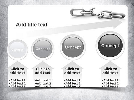Broken Link PowerPoint Template Slide 13