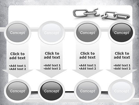 Broken Link PowerPoint Template Slide 18