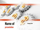 Financial/Accounting: Working Money PowerPoint Template #10942