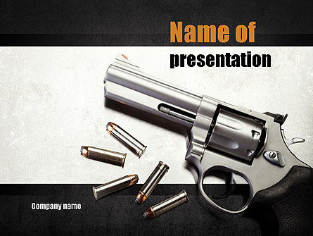Military: Gun PowerPoint Template #10943