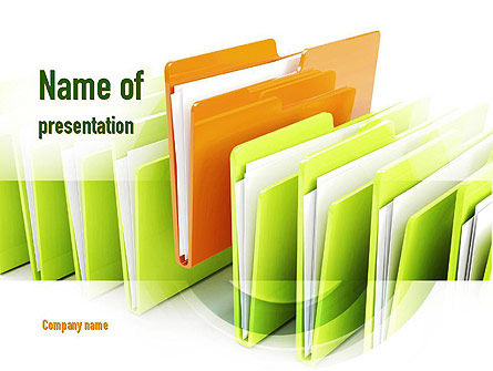 Files PowerPoint Template, 10944, Legal — PoweredTemplate.com