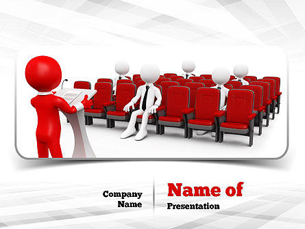 Careers/Industry: Conference Speaking PowerPoint Template #10948