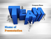 Careers/Industry: Teambuilding PowerPoint Template #10951