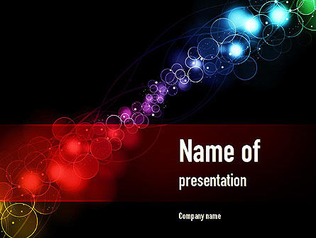 Rainbow Spots PowerPoint Template, 10952, Abstract/Textures — PoweredTemplate.com