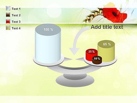 Poppy in Wheat PowerPoint Template Slide 10