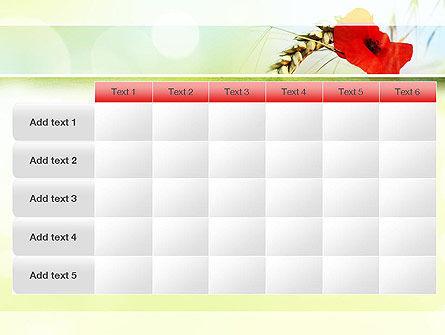 Poppy in Wheat PowerPoint Template Slide 15