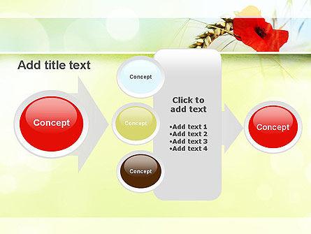 Poppy in Wheat PowerPoint Template Slide 17