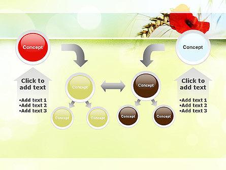 Poppy in Wheat PowerPoint Template Slide 19