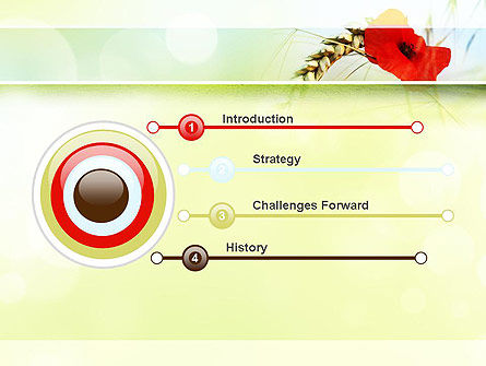 Poppy in Wheat PowerPoint Template, Slide 3, 10953, Agriculture — PoweredTemplate.com