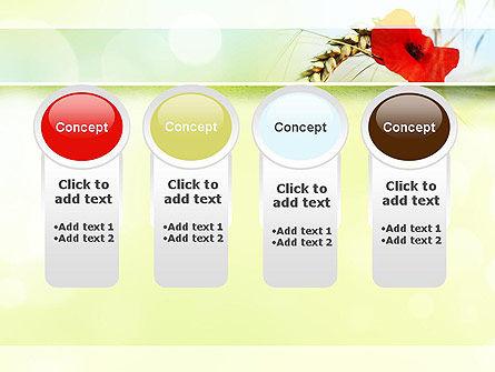 Poppy in Wheat PowerPoint Template Slide 5