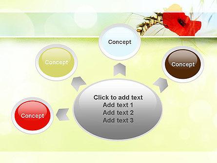 Poppy in Wheat PowerPoint Template Slide 7