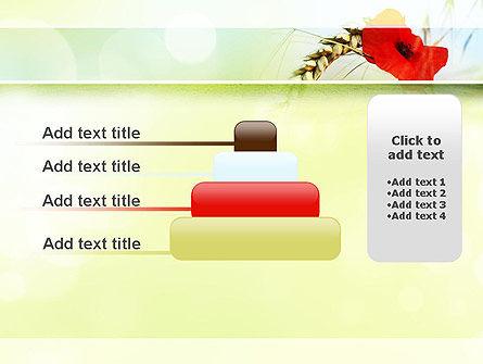Poppy in Wheat PowerPoint Template Slide 8