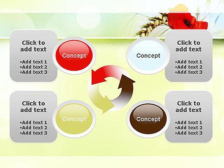 Poppy in Wheat PowerPoint Template Slide 9