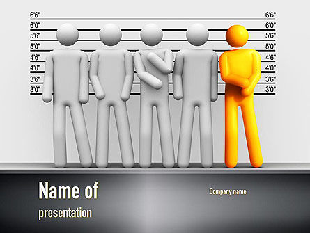 Lineup Procedure PowerPoint Template, 10954, Legal — PoweredTemplate.com