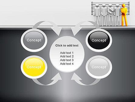 Lineup Procedure PowerPoint Template Slide 6