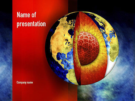 Earth's Core PowerPoint Template, 10955, Education & Training — PoweredTemplate.com