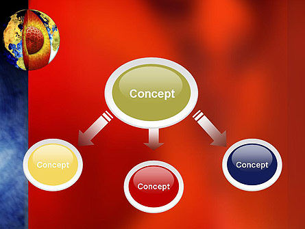Earth's Core PowerPoint Template, Slide 4, 10955, Education & Training — PoweredTemplate.com