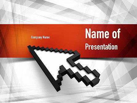 Mouse Cursor PowerPoint Template, 10962, Business Concepts — PoweredTemplate.com