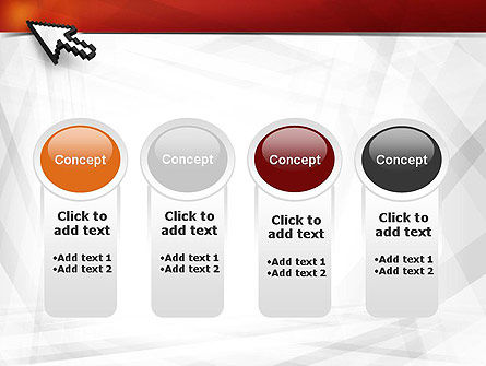 Mouse Cursor PowerPoint Template Slide 5