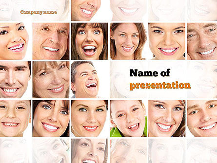 Smiling People PowerPoint Template, 10963, People — PoweredTemplate.com