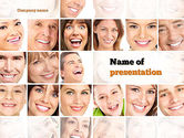 People: Smiling People PowerPoint Template #10963