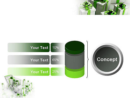 Green Gift Boxes PowerPoint Template Slide 11