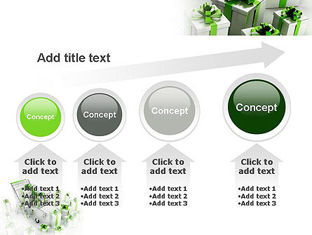 Green Gift Boxes PowerPoint Template Slide 13