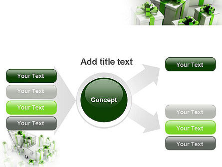 Green Gift Boxes PowerPoint Template Slide 14