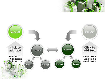 Green Gift Boxes PowerPoint Template Slide 19