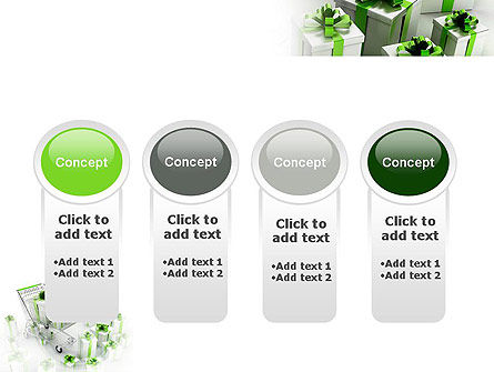Green Gift Boxes PowerPoint Template Slide 5