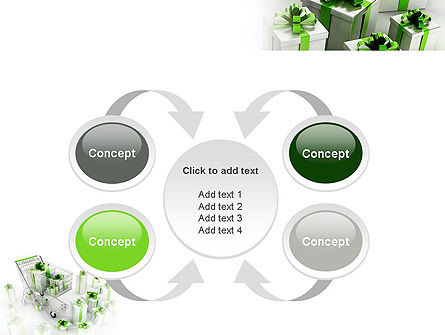 Green Gift Boxes PowerPoint Template Slide 6
