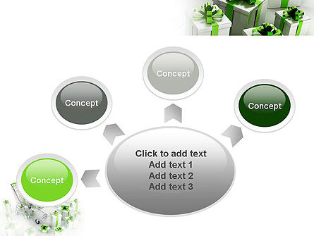 Green Gift Boxes PowerPoint Template Slide 7