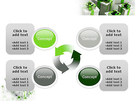 Green Gift Boxes PowerPoint Template Slide 9