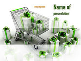 Careers/Industry: Green Gift Boxes PowerPoint Template #10965
