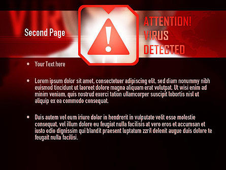 Virus Detected PowerPoint Template, Slide 2, 10967, Medical — PoweredTemplate.com