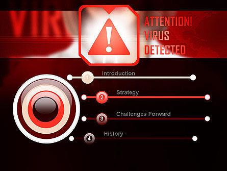 Virus Detected PowerPoint Template, Slide 3, 10967, Medical — PoweredTemplate.com