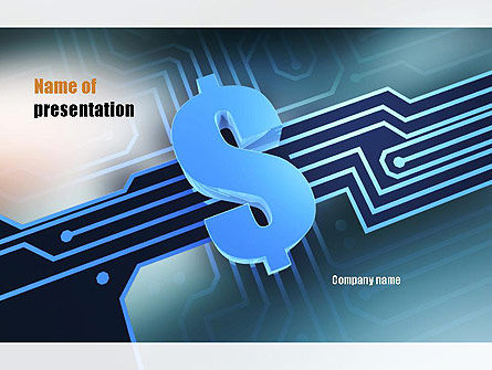 Digital Dollar PowerPoint Template, 10968, Financial/Accounting — PoweredTemplate.com