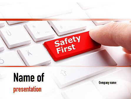 Computer Safety First PowerPoint Template, 10972, Careers/Industry — PoweredTemplate.com