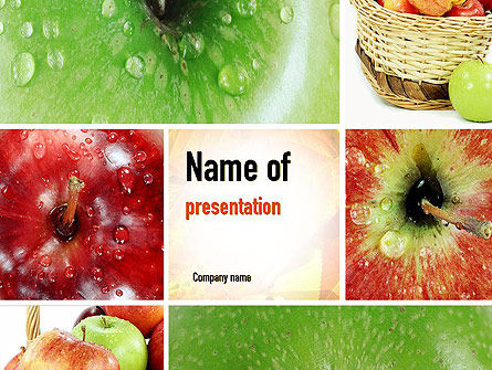 Apple Collage PowerPoint Template, 10975, Agriculture — PoweredTemplate.com