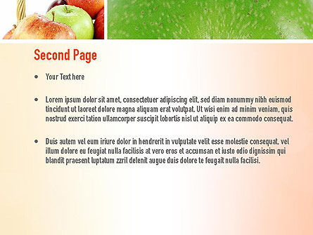 Apple Collage PowerPoint Template, Slide 2, 10975, Agriculture — PoweredTemplate.com