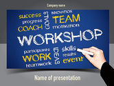 Education & Training: Coaches Workshop PowerPoint Template #10976