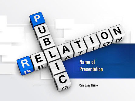 Careers/Industry: Public Relation PowerPoint Template #10977