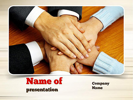 People Hands Together PowerPoint Template