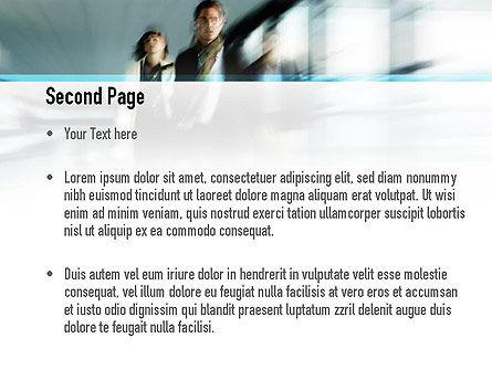 People Walking PowerPoint Template Slide 2