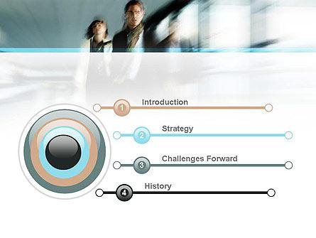 People Walking PowerPoint Template Slide 3