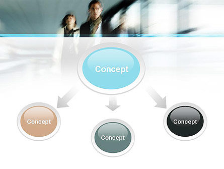 People Walking PowerPoint Template Slide 4