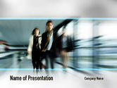 People: People Walking PowerPoint Template #10980