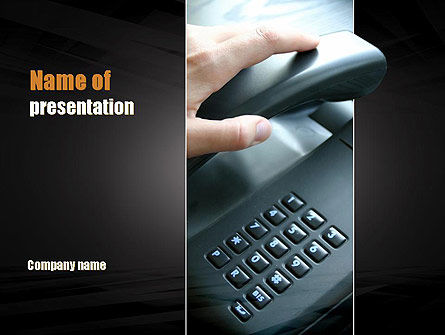 Pick Up the Phone PowerPoint Template, 10981, Telecommunication — PoweredTemplate.com