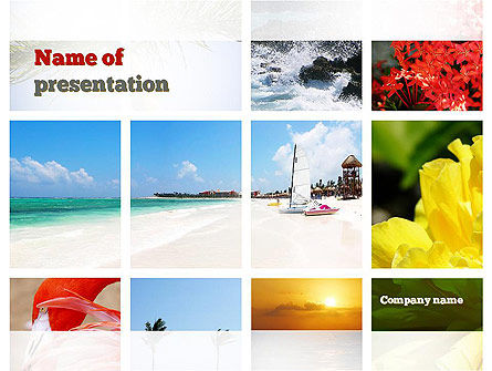 Resort Collage PowerPoint Template, 10985, Careers/Industry — PoweredTemplate.com