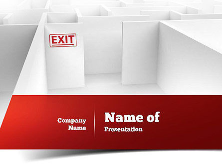Maze Exit Sign PowerPoint Template